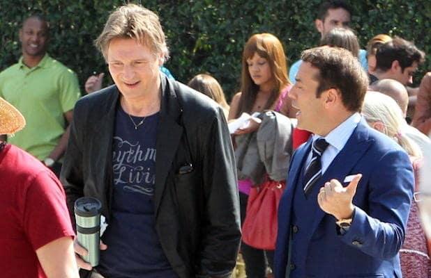 Liam Neeson on Entourage Set