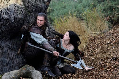 Chris Hemsworth and Kristen Stewart in Snow White and the Huntsman