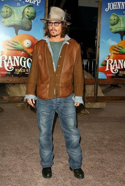 Johnny Depp at Rango Premiere