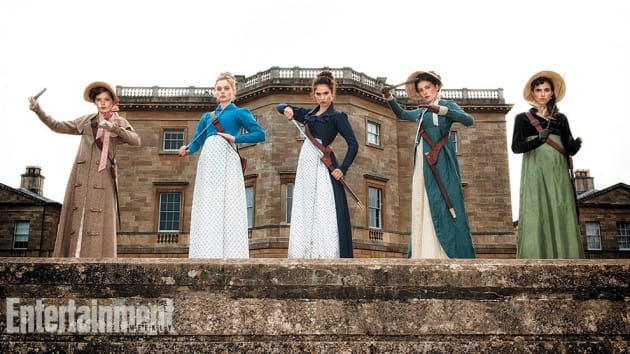Pride and prejudice and zombies cast photo