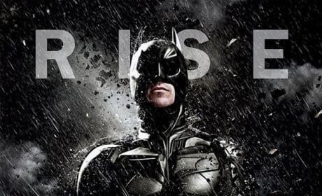 The Dark Knight Rises Rain Character Poster: Batman
