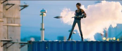 Aisha Fires a Rocket