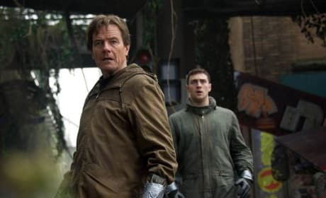 Godzilla: First Images of Bryan Cranston & Aaron Taylor-Johnson