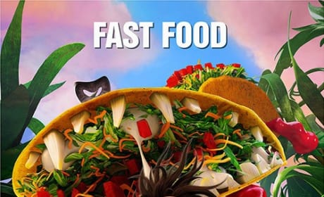 Cloudy with a Chance of Meatballs 2 Fast Food Poster
