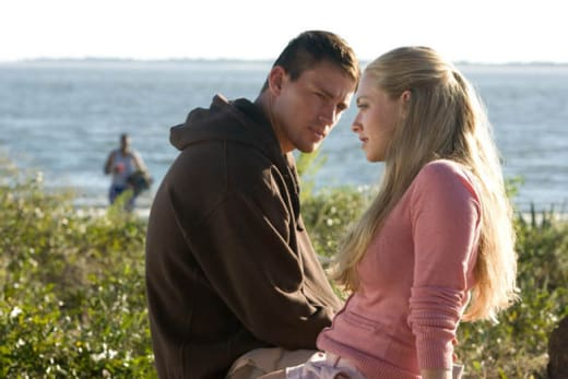 Amanda Seyfried and Channing Tatum on the Beach