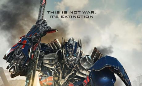 Transformers: Age of Extinction Cast Poster