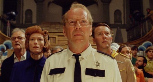 Bruce Willis and Edward Norton in Moonrise Kingdom