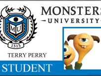 Terry Perry Monsters University Student ID