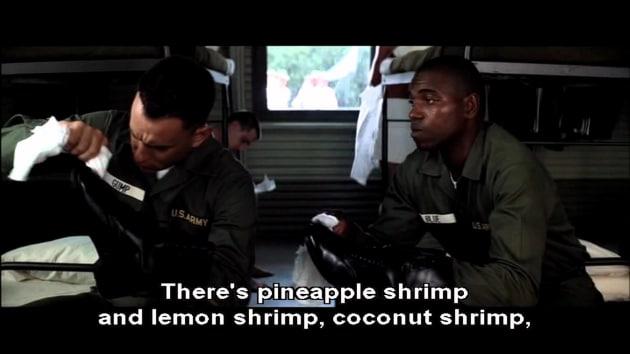Bubba shrimp quote
