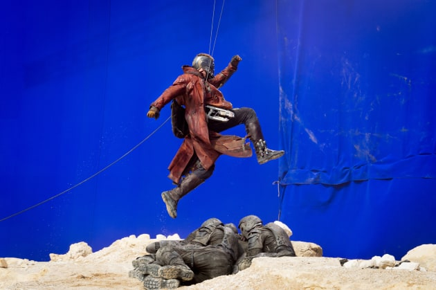 Guardians of the Galaxy Chris Pratt Set Pic