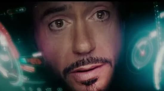 Iron Man is Robert Downey Jr. in The Avengers