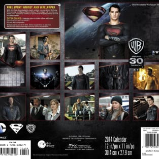 Man of Steel Calendar Back Cover