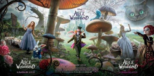 Alice in Wonderland Triple poster