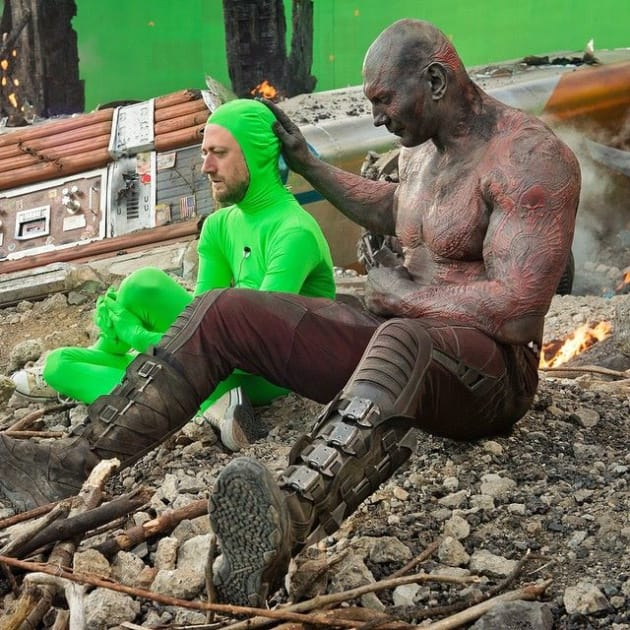 Guardians of the Galaxy Set Photo Dave Bautista