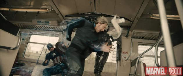 Avengers Age of Ultron Quicksilver Captain America
