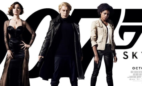 Skyfall UK Poster Shows Bond Girls and a Blond Bardem