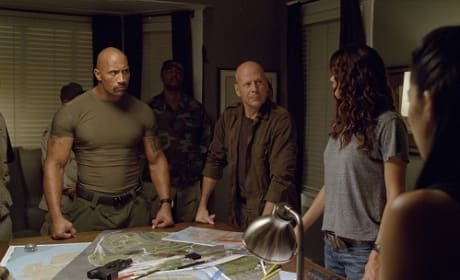 Bruce Willis Dwayne Johnson G.I. Joe Retaliation