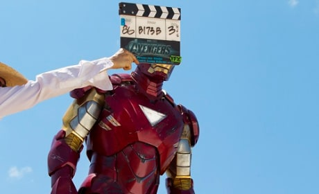 Robert Downey Jr. Filming The Avengers