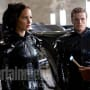 Jennifer Lawrence, Josh Hutcherson and Lenny Kravitz in The Hunger Games