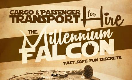 Millennium Falcon Painting
