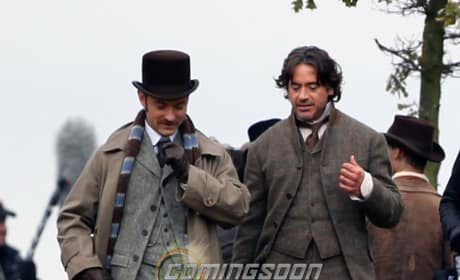 See First Photos From the Set of Sherlock Holmes 2