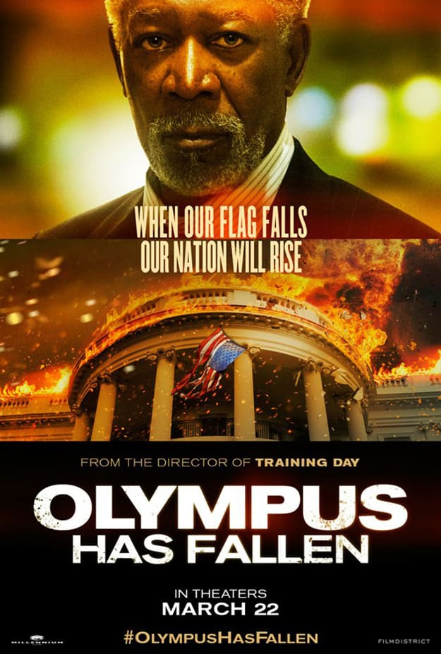 Morgan Freeman Olympus Has Fallen Poster