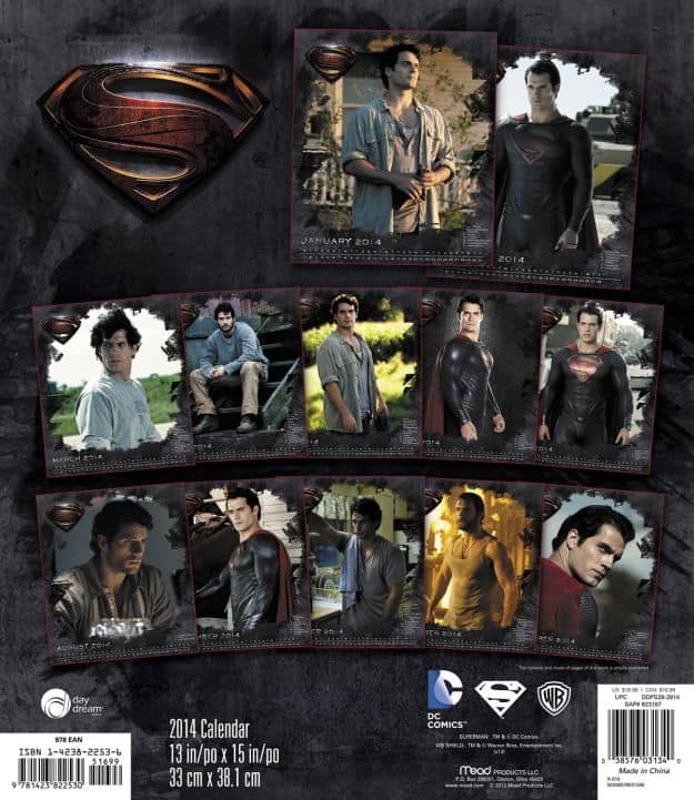 Man of Steel Superman Calendar