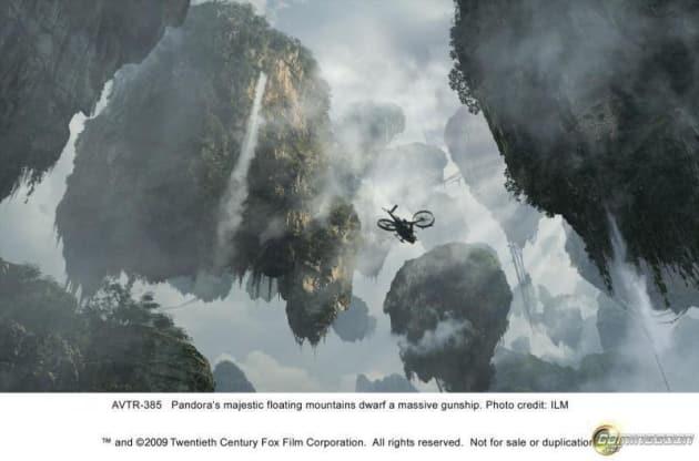 Pandora has floating mountains