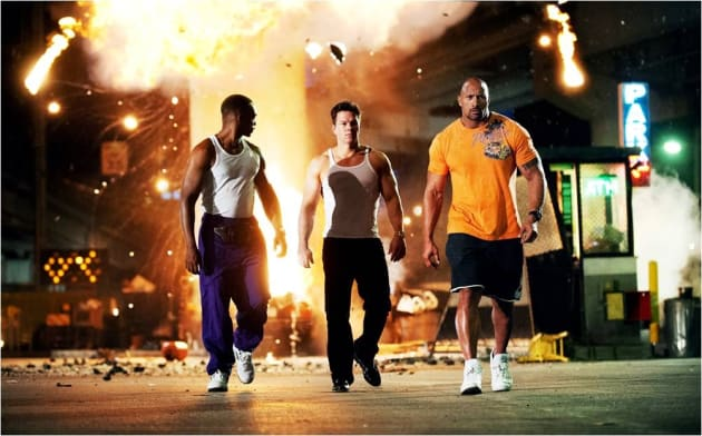Pain and Gain Stars Mark Wahlberg Dwayne Johnson Anthony Mackie