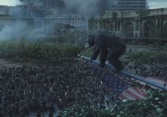 Dawn of the Planet of the Apes Set Photo