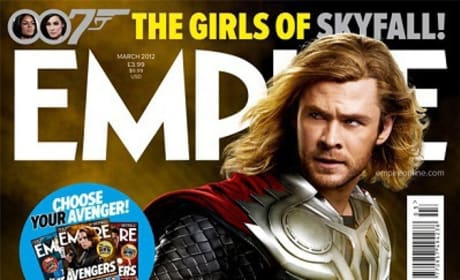 The Avengers' Thor on the cover of Empire