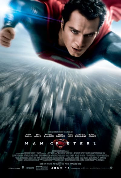 Man of Steel Poster Flying