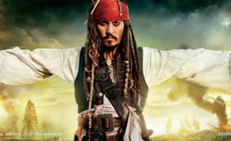 Pirates of the Carribean: On Stranger Tides Poster Featuring Jack Sparrow