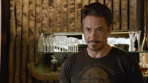 Robert Downey is Tony Stark in The Avengers