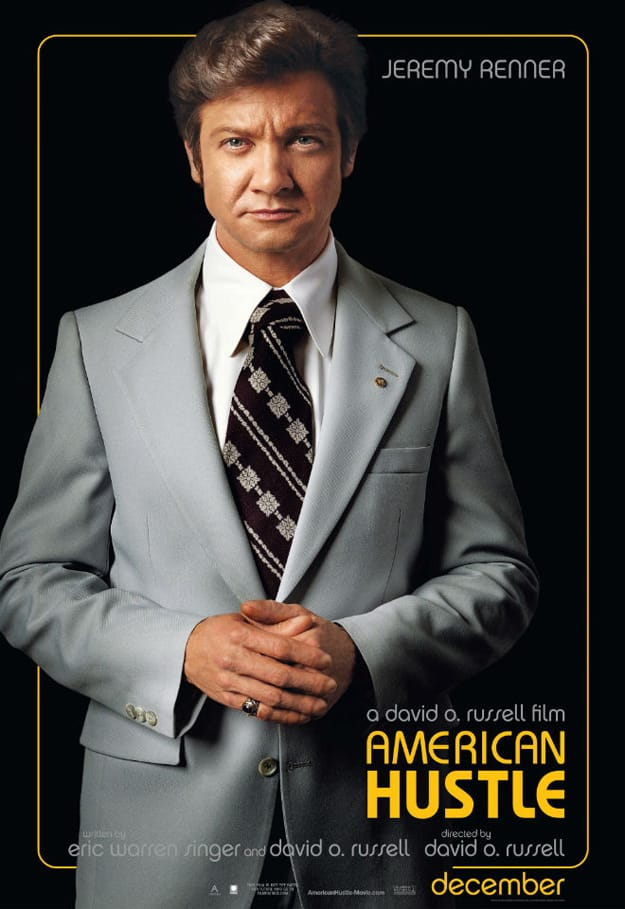 American Hustle Jeremy Renner Character Poster