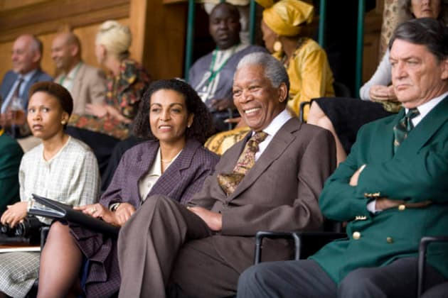 Mandela Watches the Game