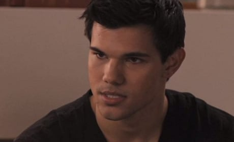 Taylor Lautner as Jacob on Breaking Dawn