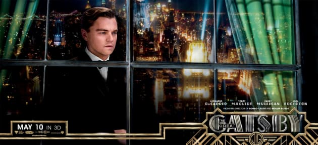 The Great Gatsby Banner Leonardo DiCaprio