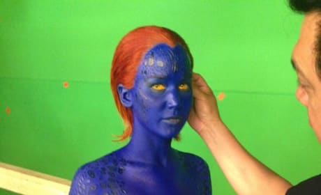 X-Men Days of Future Past: Jennifer Lawrence in Full Makeup