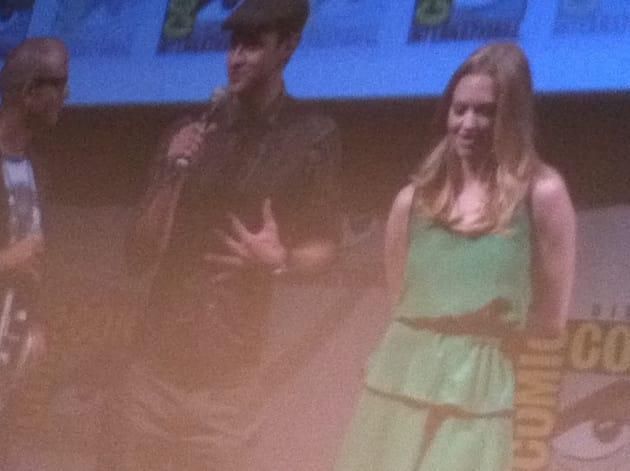 Justin Timberlake and Amanda Seyfried at Comic-Con