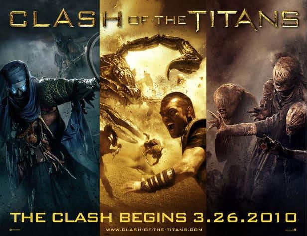 Three Panel Clash of the Titans Poster