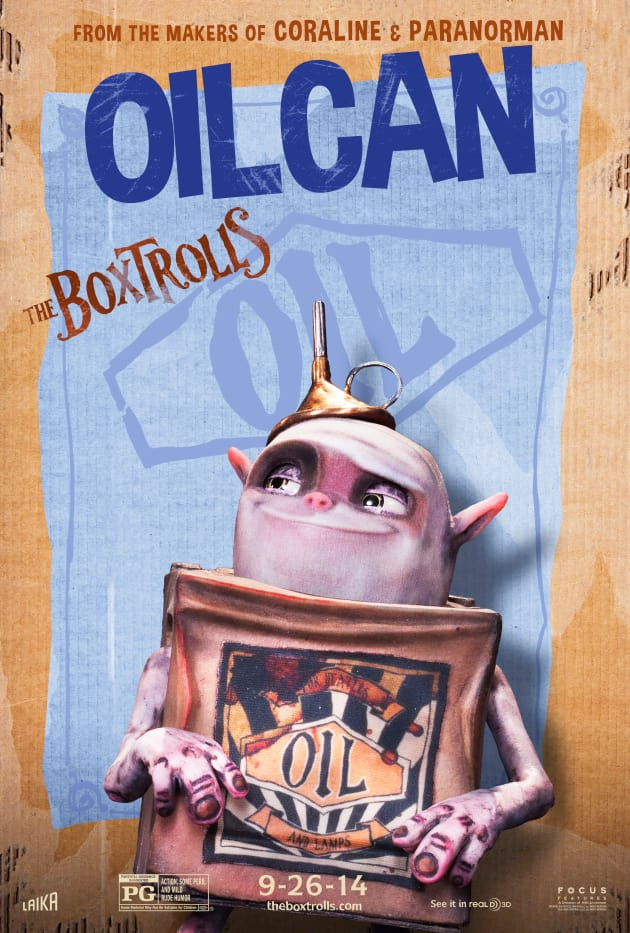 The Boxtrolls Oil Can Character Poster