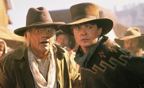 Christopher Lloyd and Michael J. Fox in Back to the Future 3