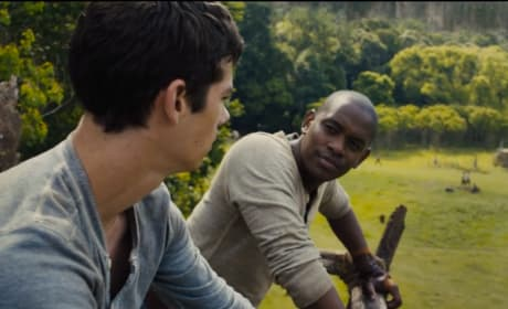 The Maze Runner Dylan O'Brien Aml Ameen