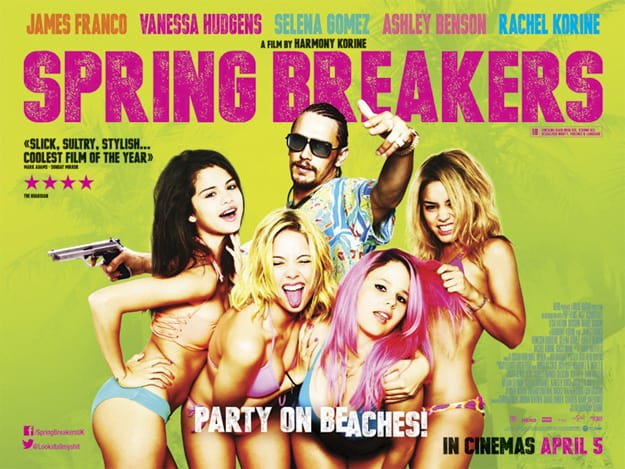 Spring Breakers UK Poster Yellow