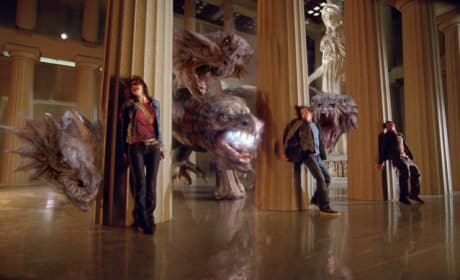 Percy and the Gang Hide from The Hydra