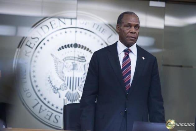 Danny Glover as President Thomas Wilson