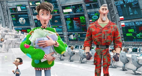 Hugh Laurie and James McAvoy in Arthur Christmas