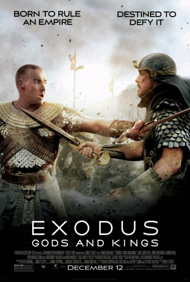 Exodus Gods and Kings Christian Bale Joel Edgerton Character Poster
