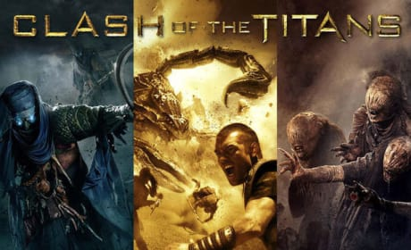 Three Panel Clash of the Titans Poster